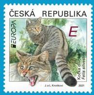 Czech Republic - 2021 - Europa CEPT - Endangered National Wildlife - Wild Cat - Felis Silvestris - Mint Stamp - Nuevos
