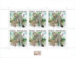 Czech Republic - 2021 - Europa CEPT - Endangered National Wildlife - Wild Cat - Felis Silvestris - Mint Stamp Sheet - Nuevos