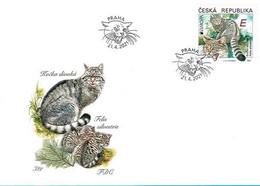 Czech Republic - 2021 - Europa CEPT - Endangered National Wildlife - Wild Cat - Felis Silvestris - FDC - FDC