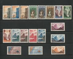 REUNION 1947 N° Y&T 262 à 279 *  (neufs Avec Charniere) A9 - Collections (without Album)