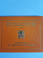 Coffret BU Vatican - 2 Euros Commémorative 2016 - Vatican