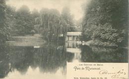 Morlanwelz 1902; Parc De Mariemont. Les Cabines De Bains - Voyagé. (Nels - Bruxelles) - Morlanwelz