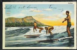 ► Surfing  HAWAII   - Honolulu 1951 - - Ski Náutico
