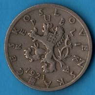 ČESKOSLOVENSKÁ 50 HALERU 1921 KM# 2 - Tschechoslowakei