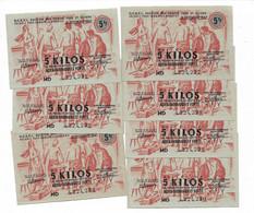 """1947 Lot De 8 Billets De 5 Kg  """"produits Moulés En Acier... """" N° Se Suivent      CRPI     Ref A - Bonos"""