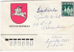 LITHUANIA 1991 Cover Sent From Vilnius To Druskininkai Coat Of Arms #27244 - Litauen