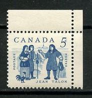 CANADA 1962 N° 325 ** Neuf =MNH Superbe Jean Talon Faune Oiseau Bird Coq Intendant - Nuevos