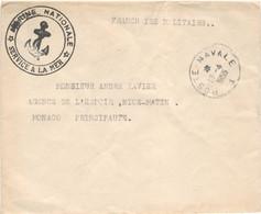 LETTRE EN FRANCHISE MILITAIRE OBLITERATION POSTE NAVALE 1 11/4/55 SAIGON POUR LA FRANCE + COURRIER - Vietnamkrieg/Indochinakrieg