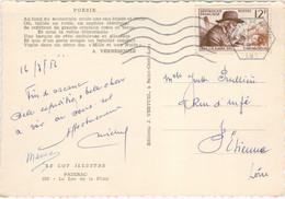 12F FABRE TARIF CARTE POSTALE + DE 5 MOTS OBLITERATION MECANIQUE GERANCE GOUFFRE DE PADIRAC 17/5/56 - 1921-1960: Modern Tijdperk
