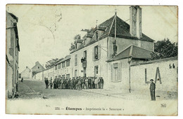 Ref 1481 - 1914 WWI Censored Postcard Etampes Village  - Army Base Post Office + Nantes France - Other