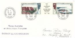 TAAF KERGUELEN  15 11 1968 AVEC PA 11A - Cartas