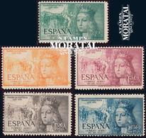 1951 España  Ed 1097/1101 Isabel Aéreo Reyes **MNH Perfecto Estado, Nuevo Sin Charnela  (Edifil) - 1951-60 Ungebraucht