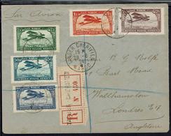 Maroc - Affr. Multicolore De P. Aérienne Sur Enveloppe Recommandée De Tanger Chérifien 28-8-1924, Pour London - B/TB - - Covers & Documents