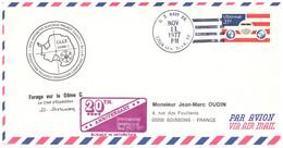 TAAF IAGP DOME C OBLITERATION US 11 11 1977 - Cartas