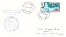 TAAF TERRE ADELIE 19 03 1969 1ER JOUR N°31 - Cartas