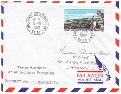 TAAF KERGUELEN 15 11 1968 AVEC PA 14 - Cartas