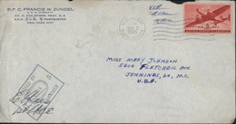Guerre 39 45 APO 562 CAD U.S. ARMY POSTAL SERVICE MAR 8 1945 Deauville Calvados Censure Passed By US Army Examiner 01216 - WW II