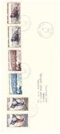 TAAF TERRE ADELIE 02 01 1960 AVEC N° 2 3 4  5 6 7 - Cartas
