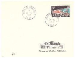 TAAF KERGUELEN 20 02 1963 AVEC N°20 - Cartas