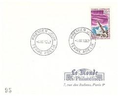 TAAF TERRE ADELIE 1ER JOUR N°23 - Cartas