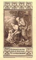 IMAGE PIEUSE HOLYCARD  COMMUNION BAZIN ARGENTAN 1935 7 X 11 CM - Santini