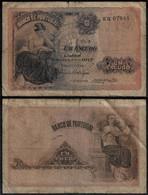 PORTUGAL BANKNOTE 1 ESCUDO 1917 P#113 VG/F (NT#06) - Portugal