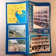 Vintage Tourist Brochure Prospect Depliant Hotel Elektra Beach Galini Hotel  Greece Greek Paralia Katerini - Tourism Brochures