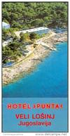 Old Prospekt Depliant Veli Lošinj Hotel Punta Lussingrande Tourist Guide Kuestenland Quarnero Croatia Jugoslavija - Tourism Brochures