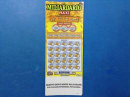 ITALIA BIGLIETTO LOTTERIA GRATTA VINCI USATO € 20,00 IL MILIARDARIO MAXI LOTTO 3037 - Billetes De Lotería