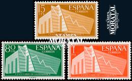 1956 Espagne  Yv 887/889 Statistiques Statistique **SC TTB Très Beau, Neuf Sans Charnière  (Yvert&Tellier) - 1951-60 Unused Stamps