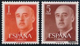 1960 Espagne  Yv 971/972 General Franco-B Série Générale **SC TTB Très Beau, Neuf Sans Charnière  (Yvert&Tellier) - 1951-60 Ungebraucht