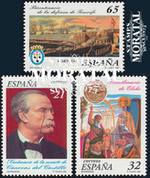 1997 Espagne  Yv 3073/3075 Centenaires Personnalites **SC TTB Très Beau, Neuf Sans Charnière  (Yvert&Tellier) - 1991-00 Unused Stamps