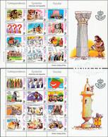 2000 Espagne  Yv 3299/3322 Feuille Comics.Correspondance Ecoliers Comics **SC TTB Très Beau, Neuf Sans Charnière  (Yver - 1991-00 Unused Stamps