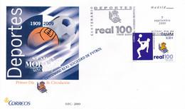 2009 Espagne  Yv 4144 Football Real Sociedad Football Cachet (Premier Jour) TB Beau (FDC)  (Yvert&Tellier) - FDC
