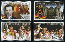 Turkey 2005 - Mi. 3479-82 A O, 100th Anniv. Of Galatasaray | Football (Soccer) | Sports | Sports Clubs - Used Stamps
