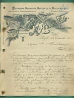 27 Léry Louée Fils Chardons Normands Naturels ( Logo Dépot Acquigny Route Nationale Médaille Mérite Agricole) 23 12 1905 - Artesanos