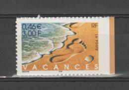 FRANCE / 2001 / Y&T N° 3400 ** Ou AA 29 **: Vacances (de Carnet) X 1 BdC D - Adhesive Stamps