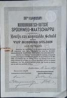 NOORDBRABANTSCH-DUITSCHE SPOORWEGMIJ. 1891 - Railway & Tramway