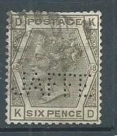 Grande-Bretagne YT N°65 Reine Victoria (Perforé JAFFE) Oblitéré ° - Usados