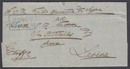 "Austria Hungary, 1848 ""Zengg"" Boxed Cancel On Folded Letter - ...-1850 Vorphilatelie"