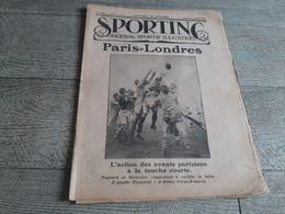 Sporting Journal Sportif Illustré 1923 Rugby Paris Londres Boxe Moran Criqui - Sport