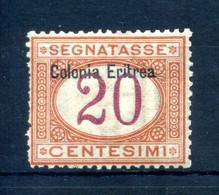 1903 ERITREA Segnatasse N.3 20 Centesimi * - Eritrea