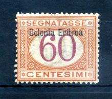 1903 ERITREA Segnatasse N.7 60 Centesimi * - Eritrea