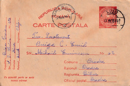 A4597- Postcard Romanian Popular Republic, Aiud Oradea 1951 Used Postal Stationery - Enteros Postales
