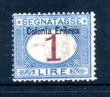 1903 ERITREA Segnatasse N.8 1 LIRA * - Eritrea
