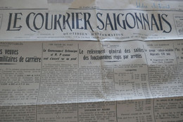 Indochine Journal Le Courrier Saïgonnais 07/05/1928 En L'état - Otros
