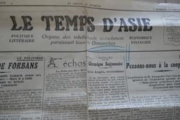 Indochine Journal Le Temple D'Indochine 15/08/1926 En L'état - Otros