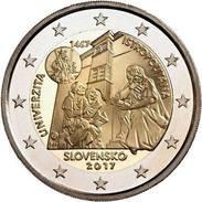 """2 Euro Commemorativo Slovacchia 2017- """"550° Anniv. Accademia Istropolitana"""" FDC- DA ROTOLO - Slovakia"""