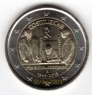 2 EURO COMMEMORATIVO ITALIA 2018 FDC 70° Costituzione Italiana - Italy