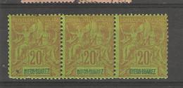 Diégo- Suarez (1894 ) 1 Bloc De 3 N°44 Neufs - Unused Stamps
